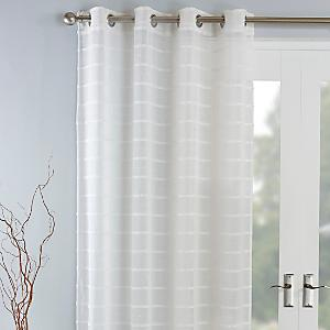 Sienna Voile Curtain Panel with Tab Top White Natural