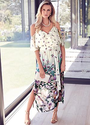 9a85d3b60e3 Floral Chiffon Maxi Dress