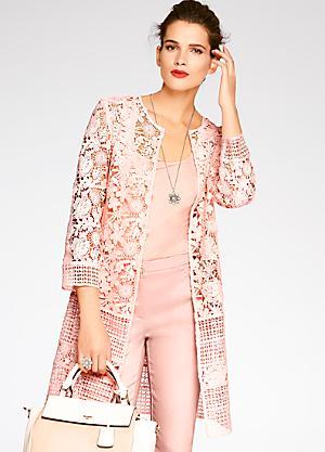 Ladies Kaleidoscope Black Grey Pink Check Jacket Size 12