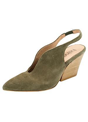 319cf83819a Heine Suede Block Heel Shoes