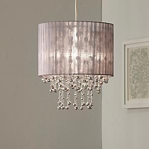 Silver Organza Chandelier Shade | Chandelier shades