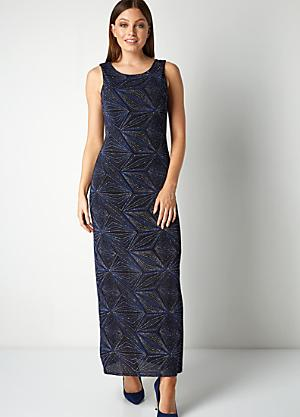 7cbb2c7e06c5 Roman Originals Geometric Glitter Print Maxi Dress