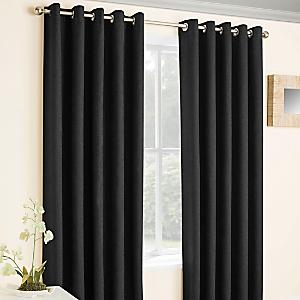 Vogue Pair Of Eyelet Lined Thermal Blockout Curtains