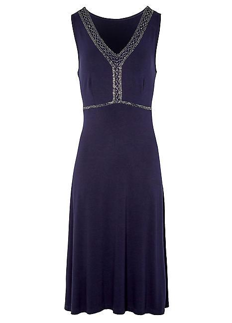 Sleeveless Beaded Dress