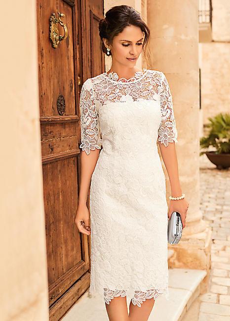 Dahlia Lace Midi Bridal Dress