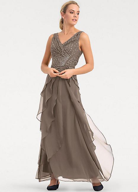 d5c5f99bd85d Heine Chiffon Layered Evening Dress | Kaleidoscope