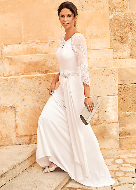 a16c548fd23 Iris Lace Sleeved Maxi Bridal Dress by Kaleidoscope