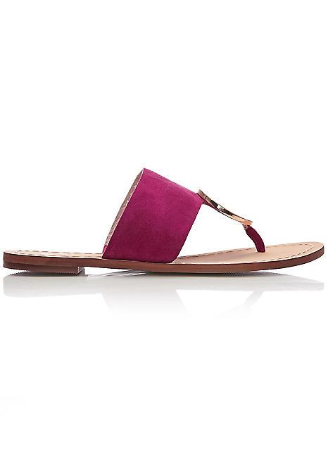 73312370c Moda In Pelle Disc Trim Toe Post Flat Sandals | Kaleidoscope