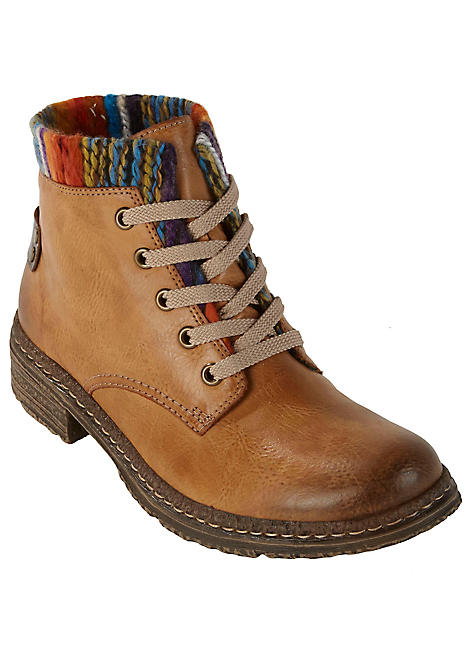 buy popular 12847 f878b Rieker Multi Thread Cuff Ankle Boots