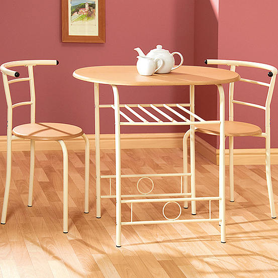 Compact Space Saving Table 2 Chairs Dining Set Kaleidoscope