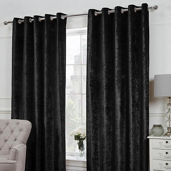 Crushed Velvet Eyelet Curtains
