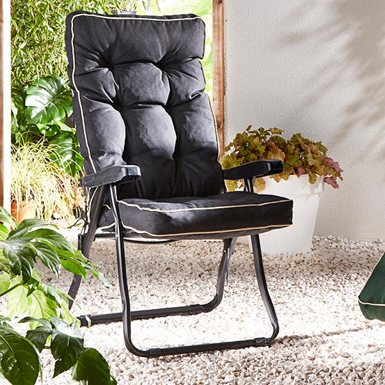 Enjoyable Deluxe Cushion Garden Recliner Chair Creativecarmelina Interior Chair Design Creativecarmelinacom