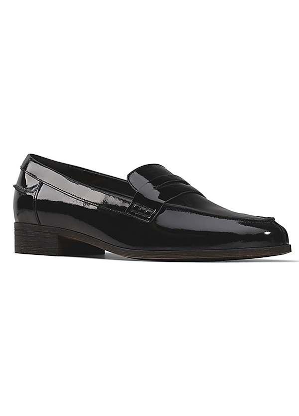 Clarks Black Patent Loafers | Kaleidoscope