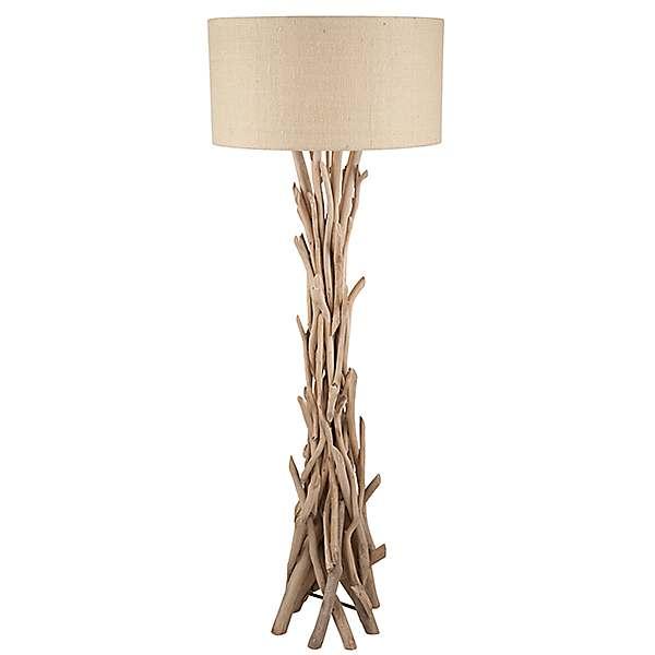 Driftwood & Jute Floor Lamp