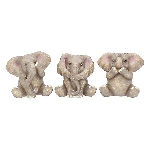 Nemesis Now Three Baby Elephant Figurines Kaleidoscope