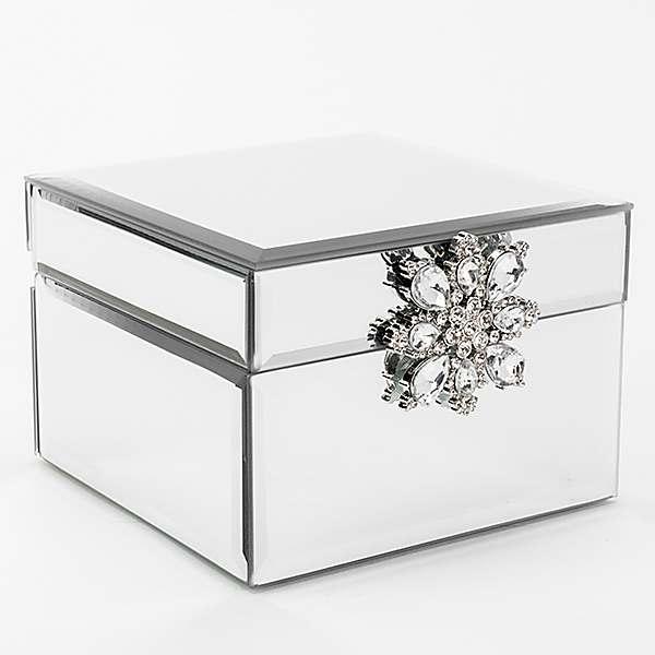 Sophia Mirror Glass Jewellery Box With, Swarovski Jewellery Box With Mirror